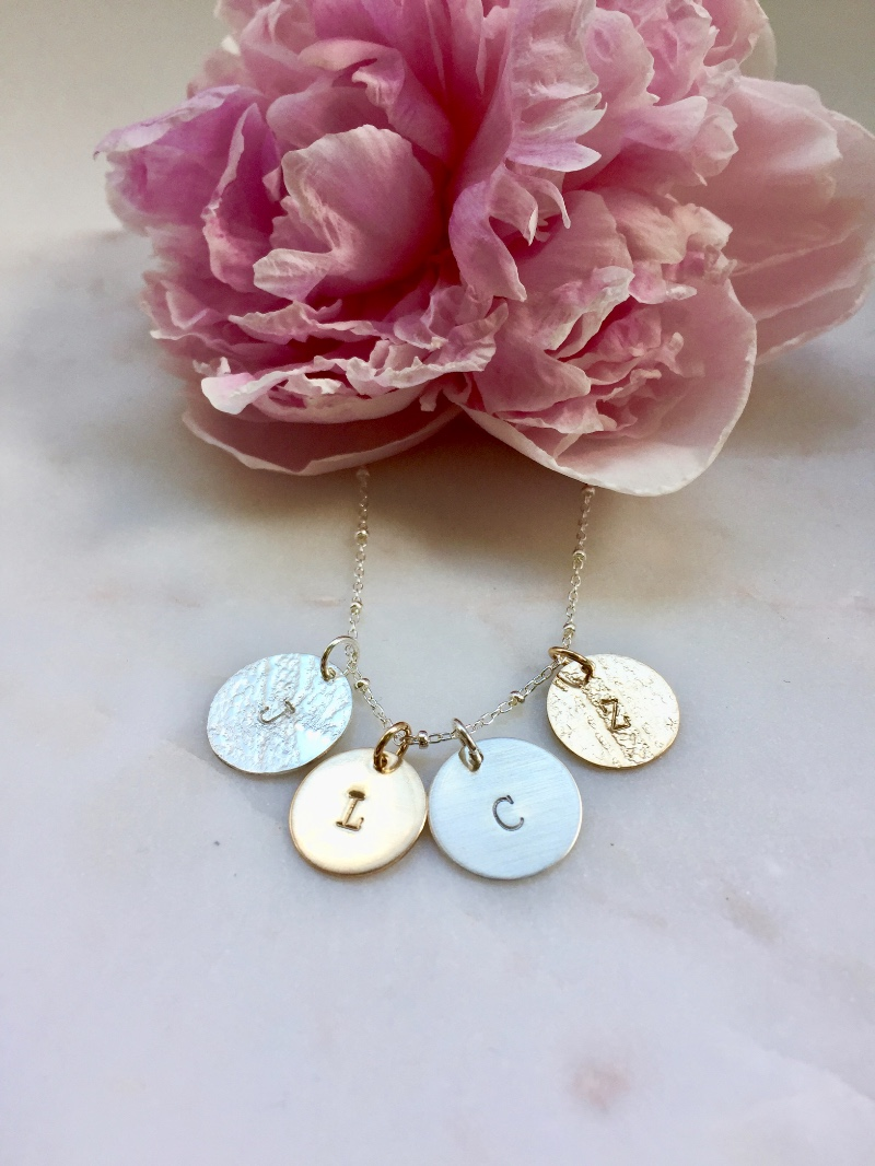 Personalized Initial Necklaces make darling gifts for Mother of the Bride, Mother of the Groom, or for the Bride!