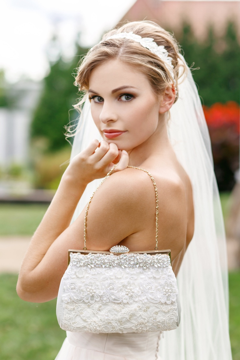 Find your dream bridal clutch with Cloe Noel Designs.