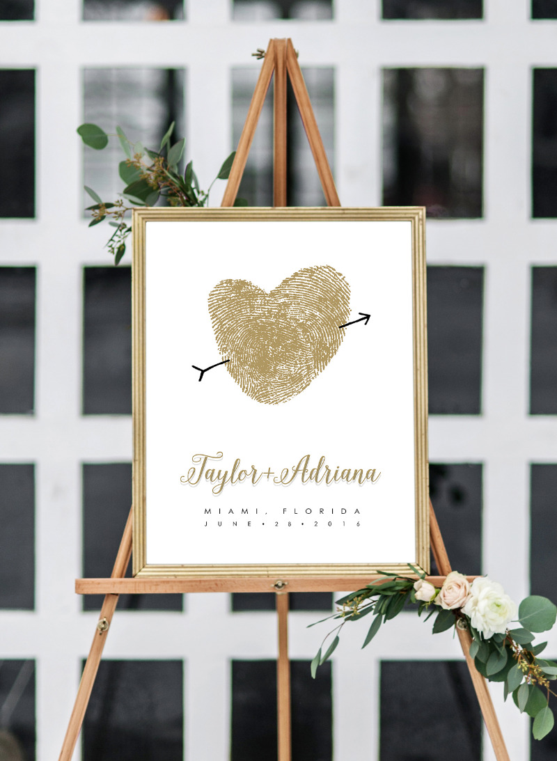 Guest book poster made with your own fingerprints.