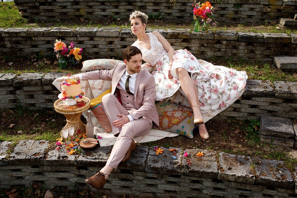 bride and groom summer style ideas