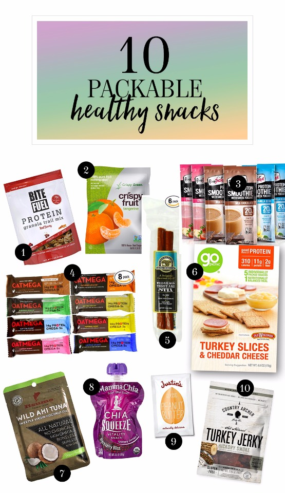 10 packable healthy snacks