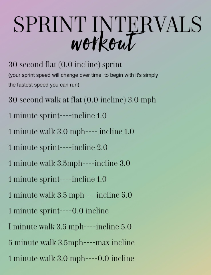 sprint interval workout while your on vacation