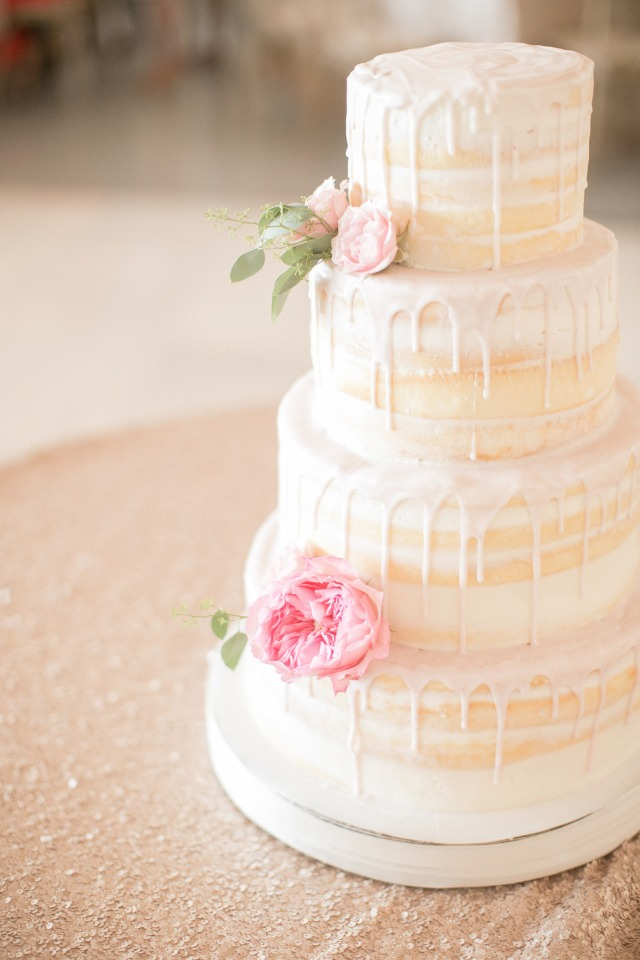 naked drizzle wedding cake