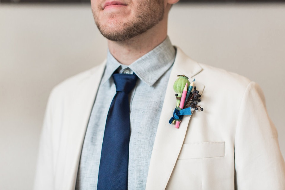 Unique boutonniere inspiration
