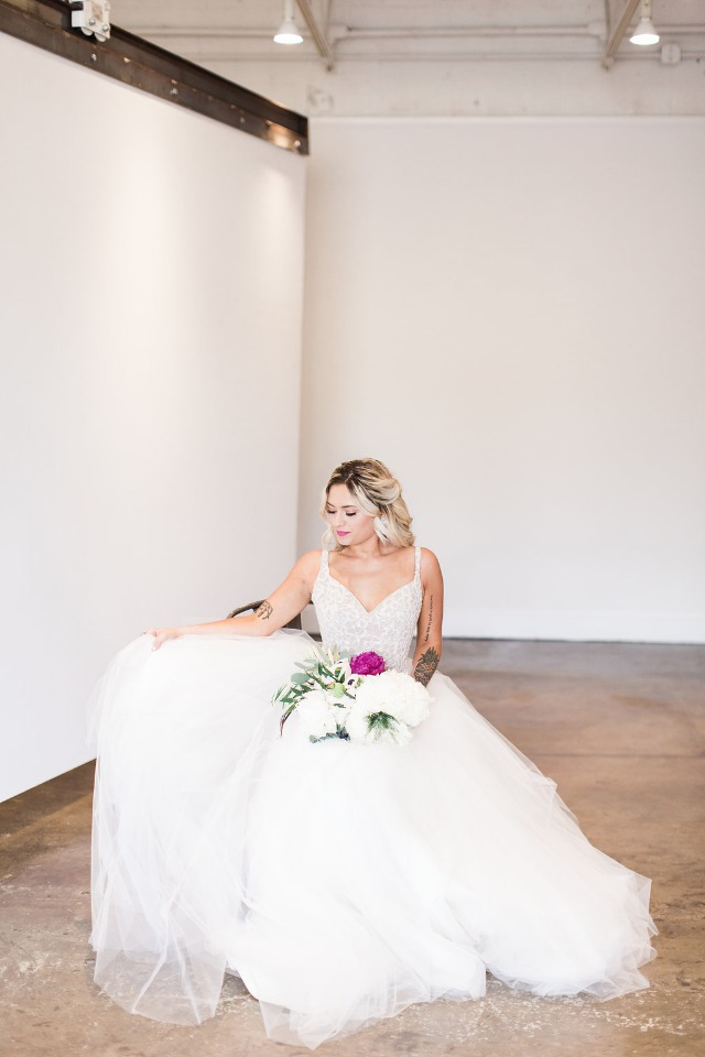 Wedding dress from Hayley Paige Blush collection