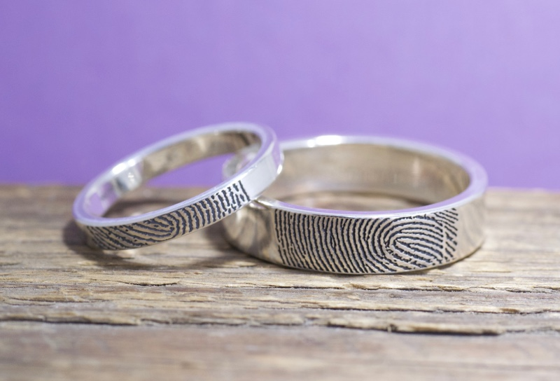 What better way personalize your wedding rings than with your actual touch?