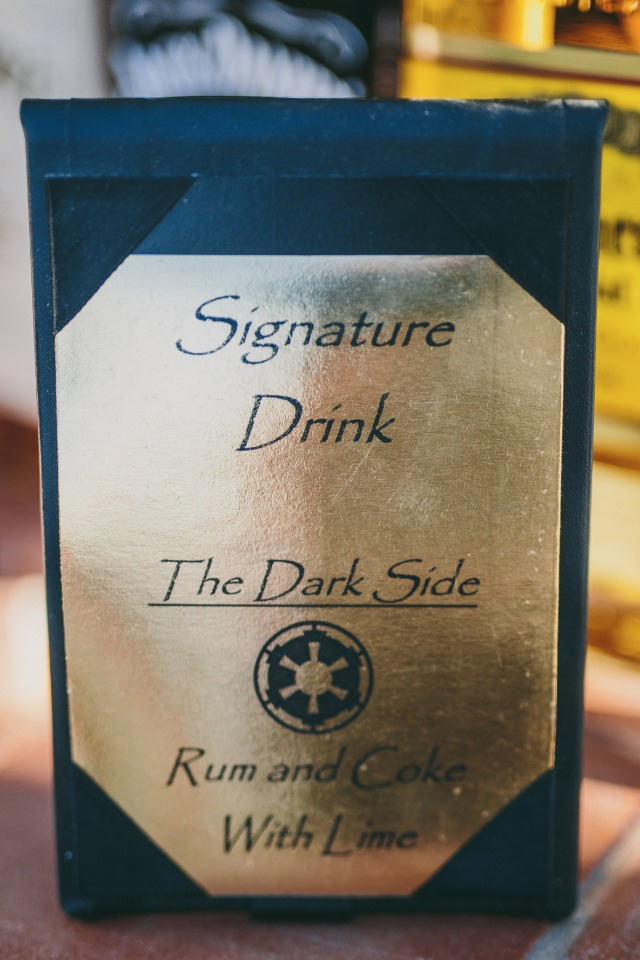 "Signature drink ""the dark side"""