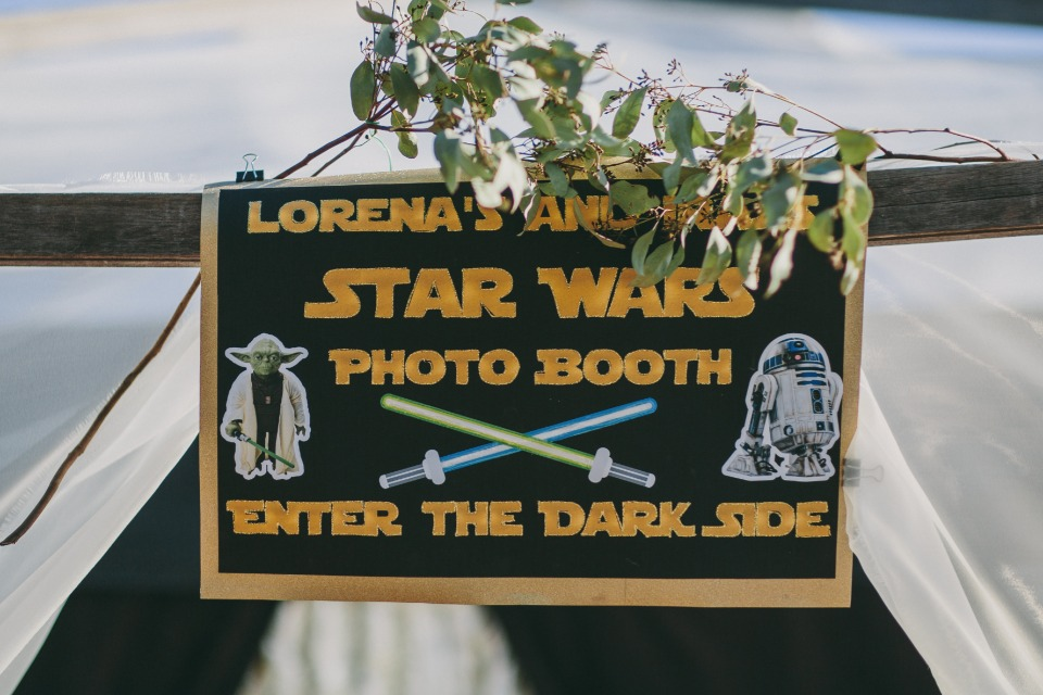Star Wars photo booth