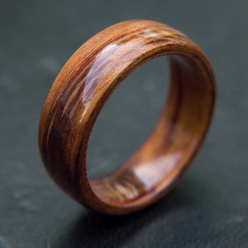 Mens bentwood wedding ring handcrafted out of the richest koa wood. This truly makes a unique wedding ring.