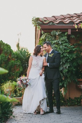 Vintage Boho Garden Backyard Wedding With Lots of DIY Details