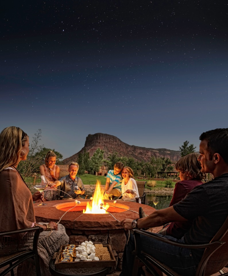 Starry night and smores at Gateway Canyons Resort in Colorado