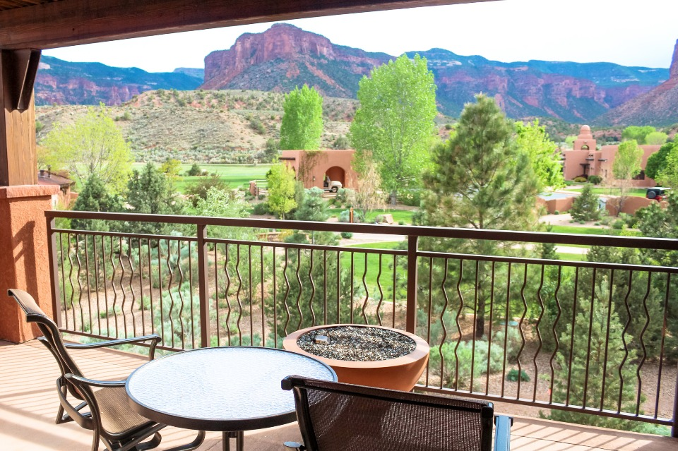 View off the patio of Gateway Canyons Resort