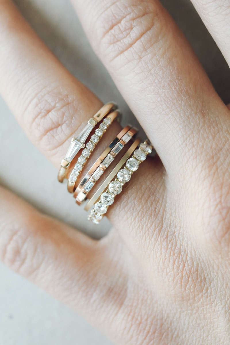 Individual show-stoppers — but better together. You might love wearing 1 (or 5) of our stackers because they rock. 💎 shop our
