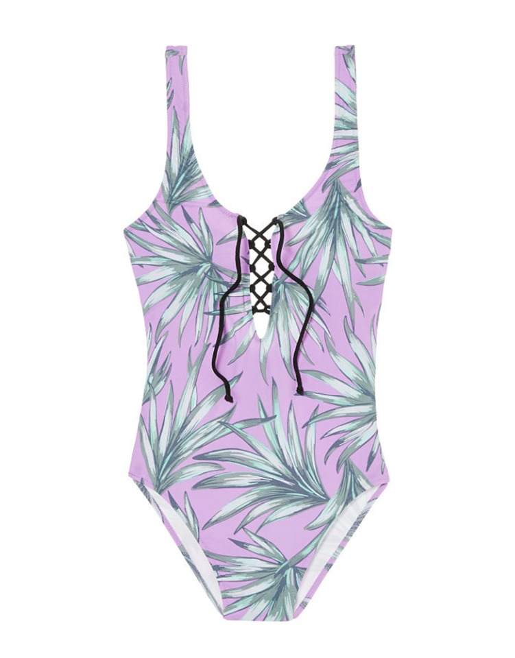 Lace-up suit in Violet Palm from Victoria's Secret