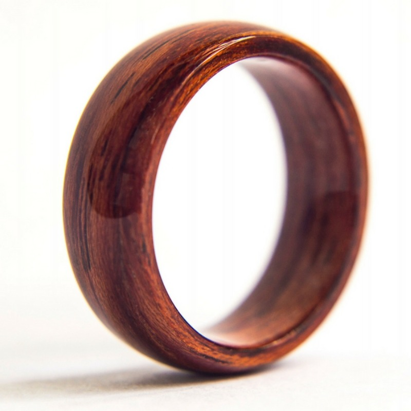 Bentwood ring made out of Ttulipwood. Another unique mens wedding ring.