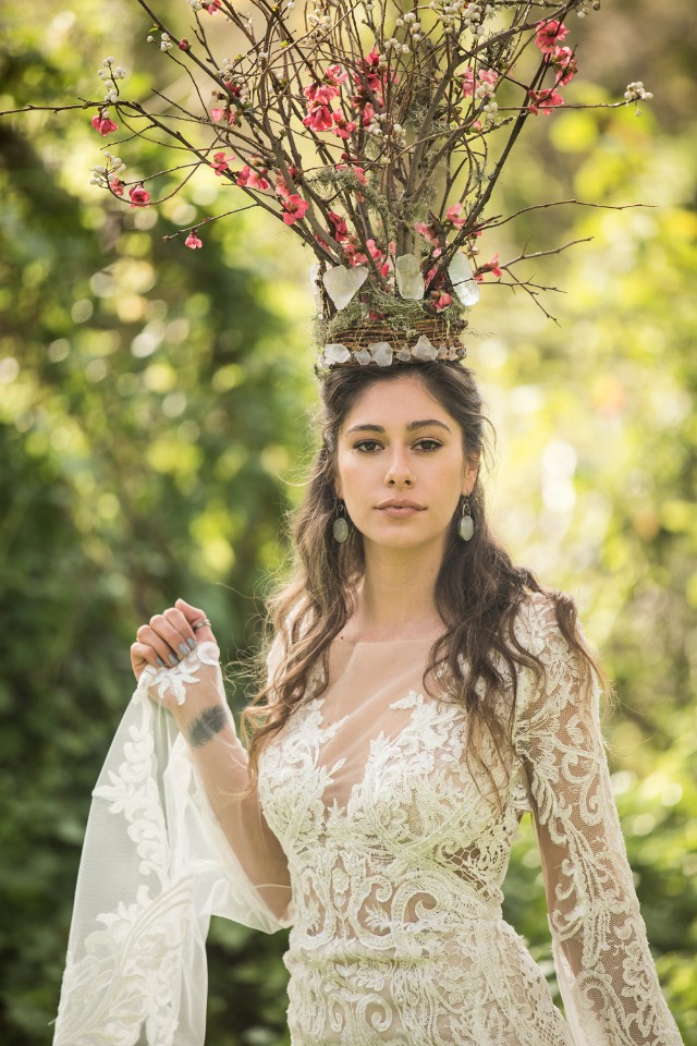 Dramatic boho headdress