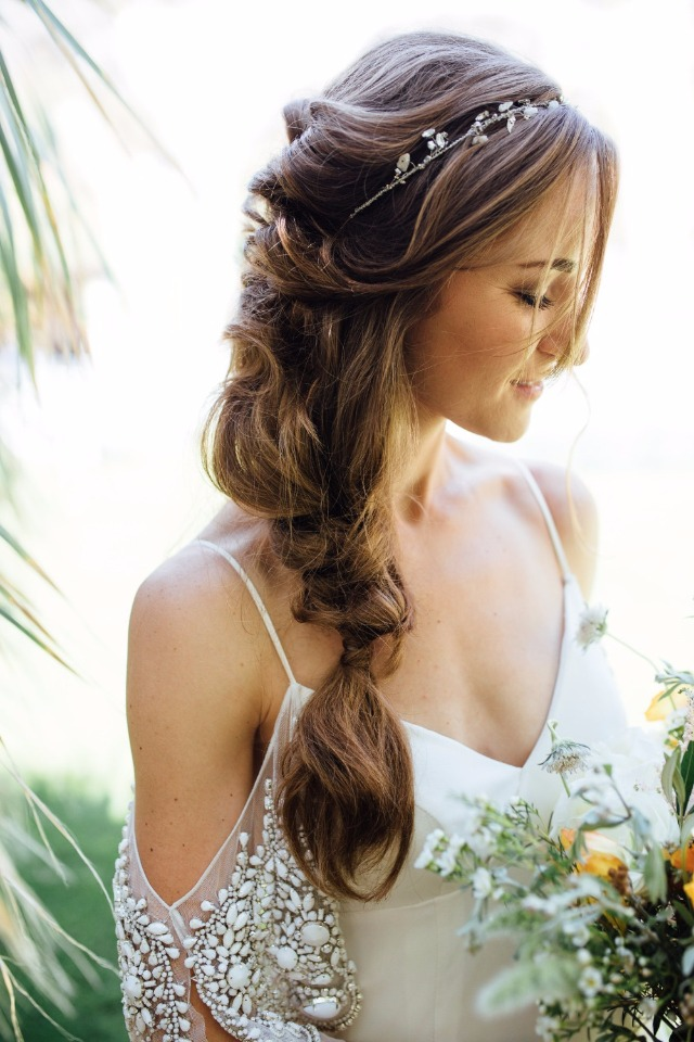 loose and care free wedding braid