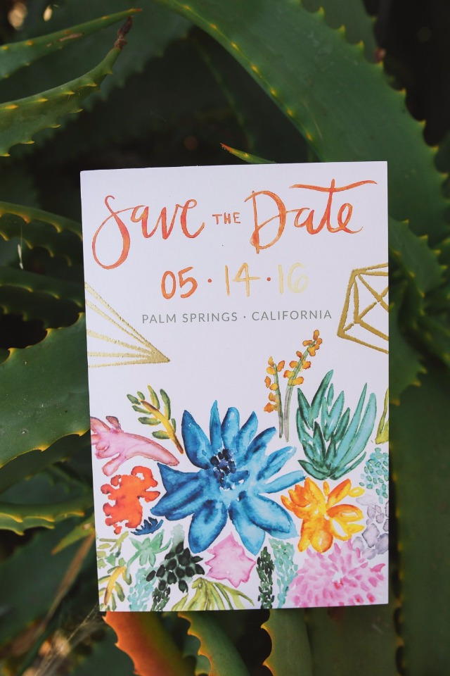 fun hand painted wedding save the date
