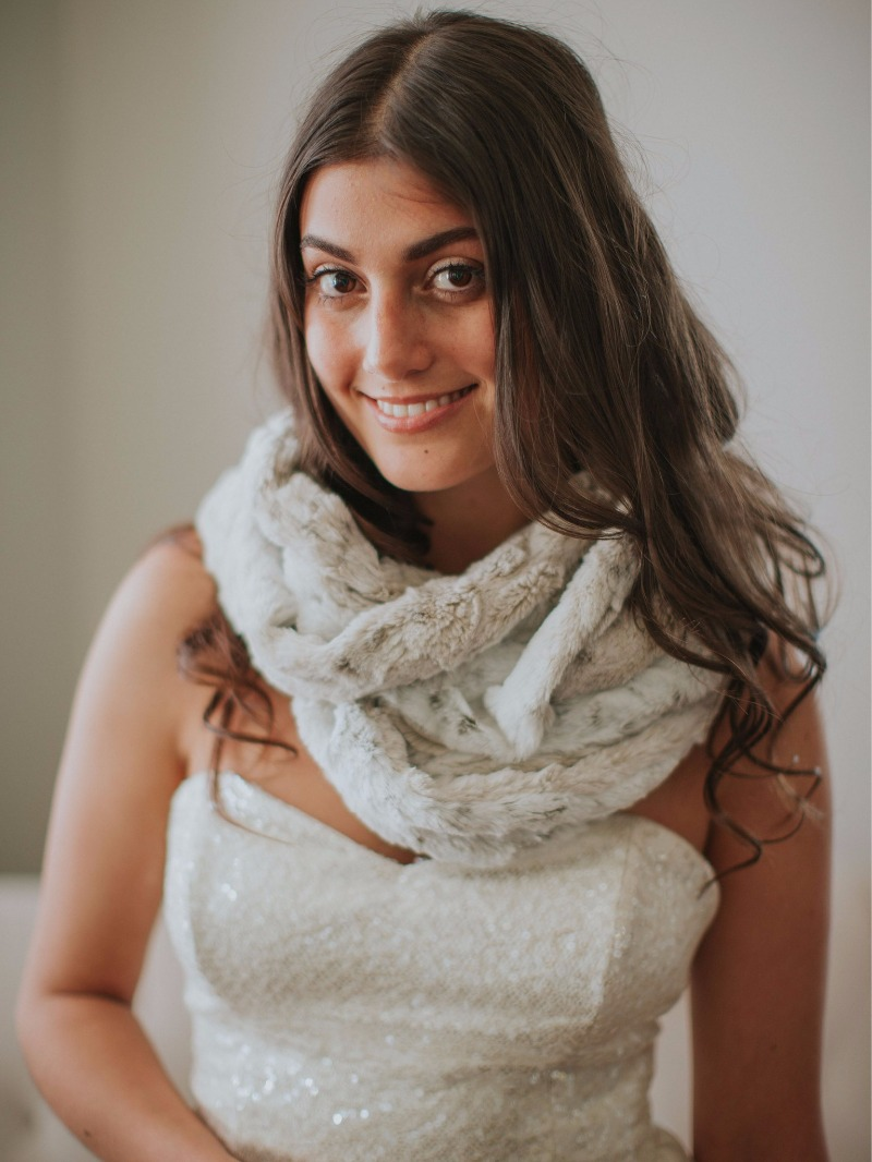 The versatile Fairfield Shawl is perfect for every chilly evening, no matter your dress.