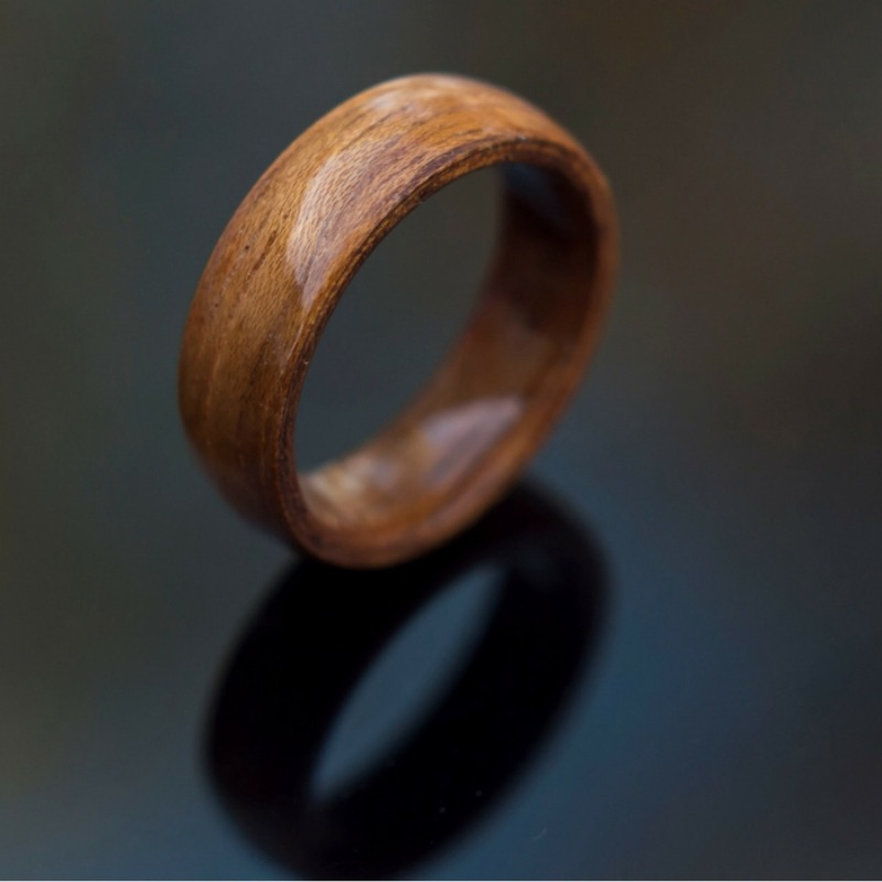 Koa wood bentwood wedding band. These bentwood rings can be customized to your own liking.