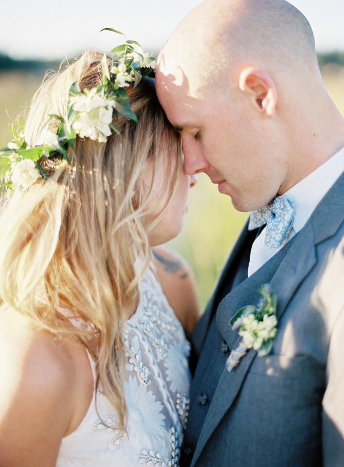 intimate bride and groom photo