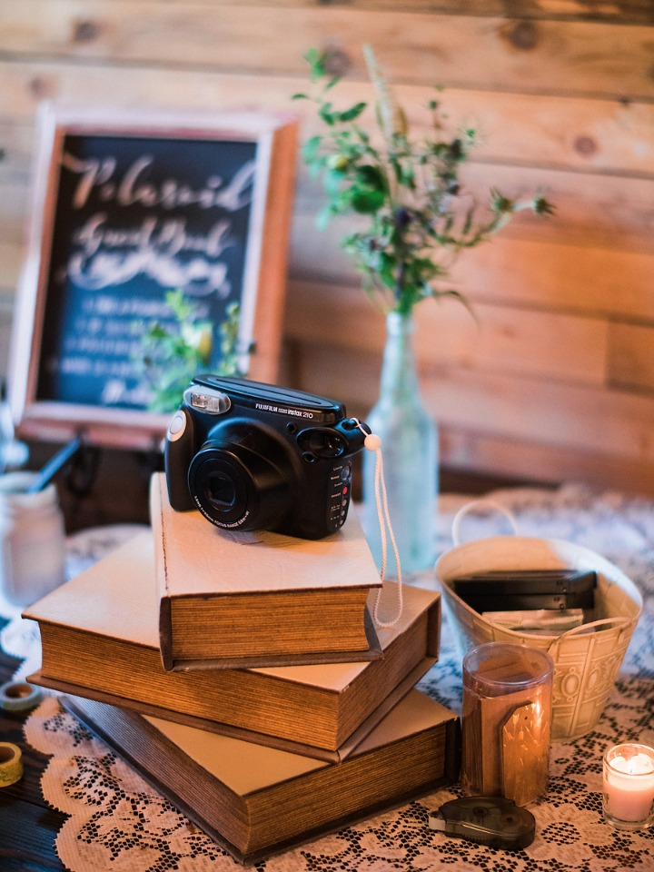 snap a photo and white in the guest book