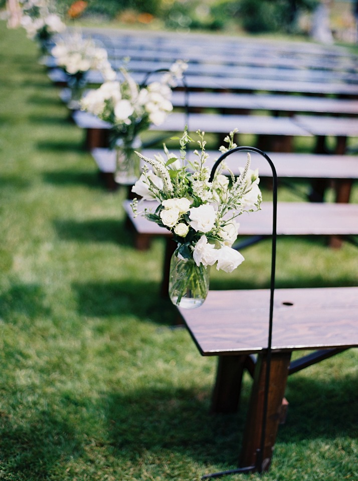 hanging floral wedding aisle