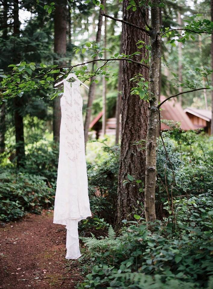 wedding dress in the wild