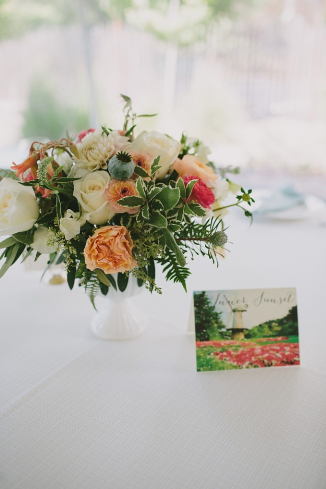 Post card table numbers