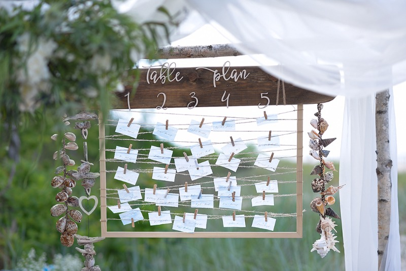 Unique table plan - perfect for beach weddings !