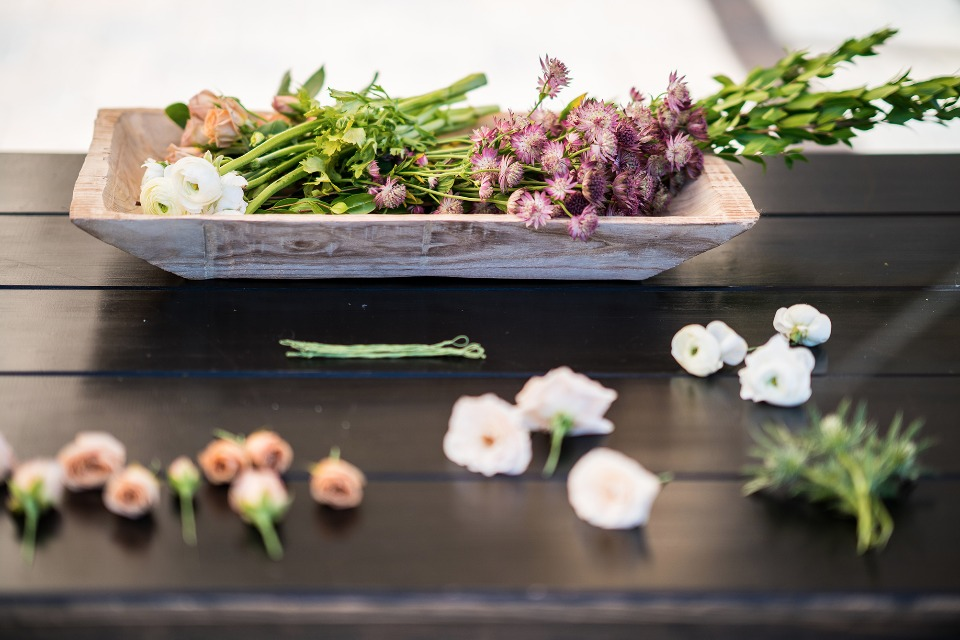 Flower bar for a bridal brunch