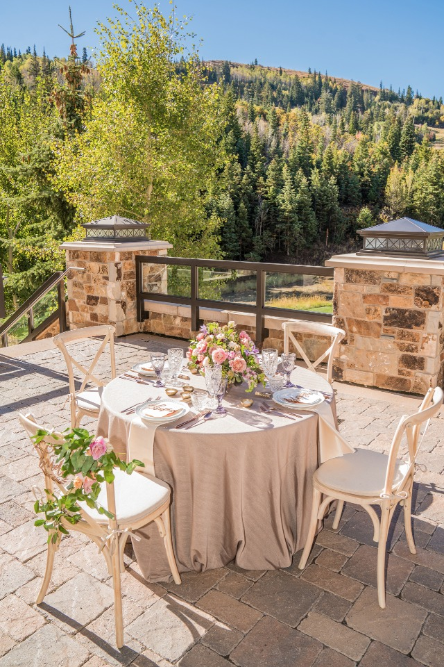 Outdoor bridal luncheon