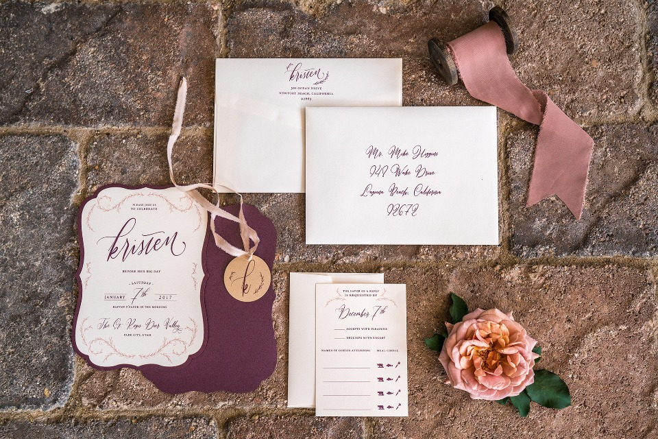 Bridal weekend getaway invite