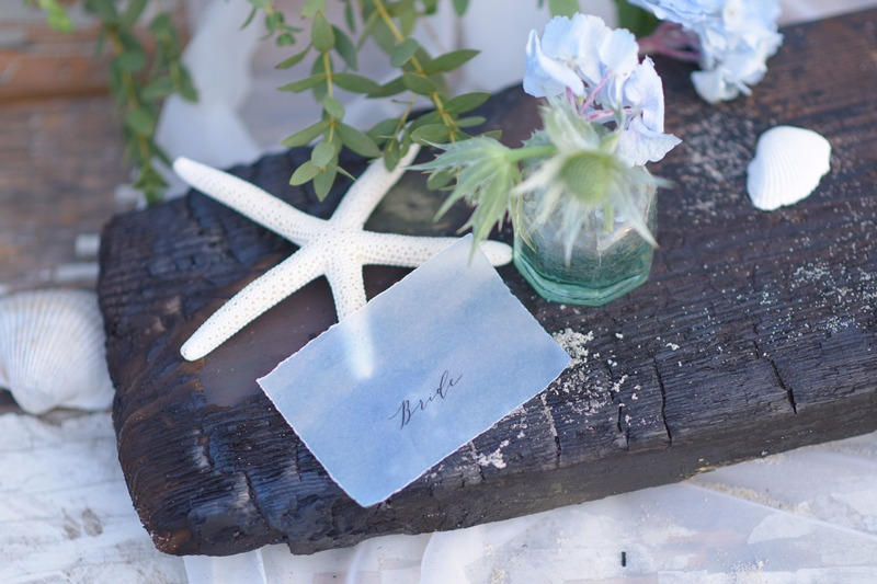 Wedding place table card - perfect for beach weddings