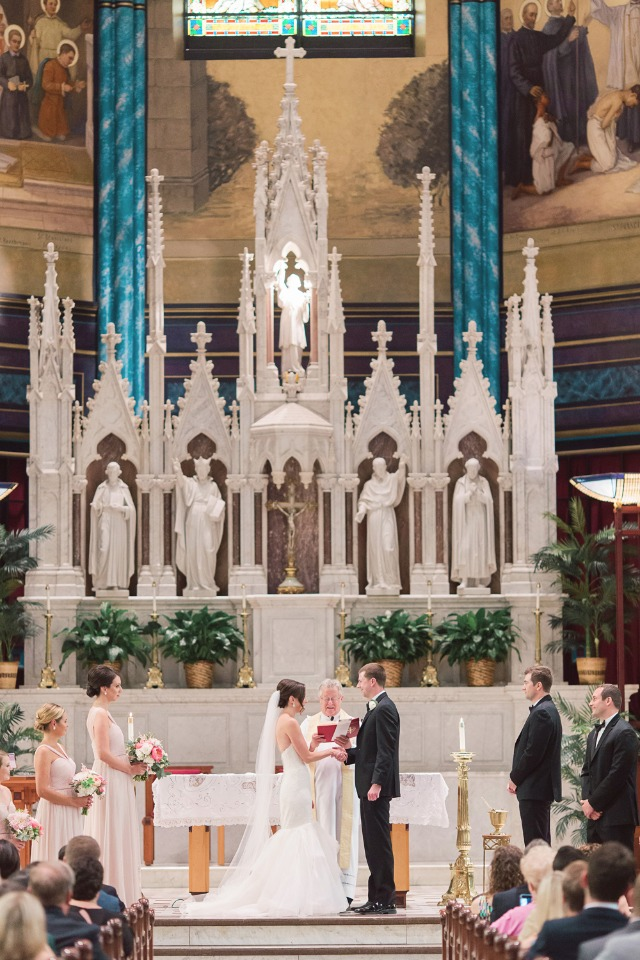 classic cathedral wedding ceremony