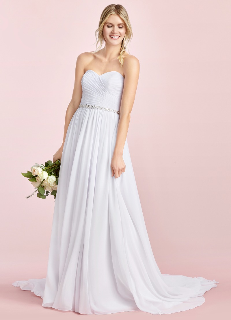 Turn heads in Azazie's Effie Bridal Gown in white!