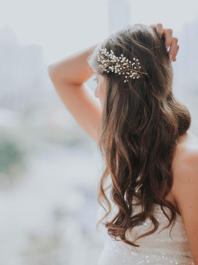 The Petite Sofie Headpiece is perfect for the most whimsical of weddings.