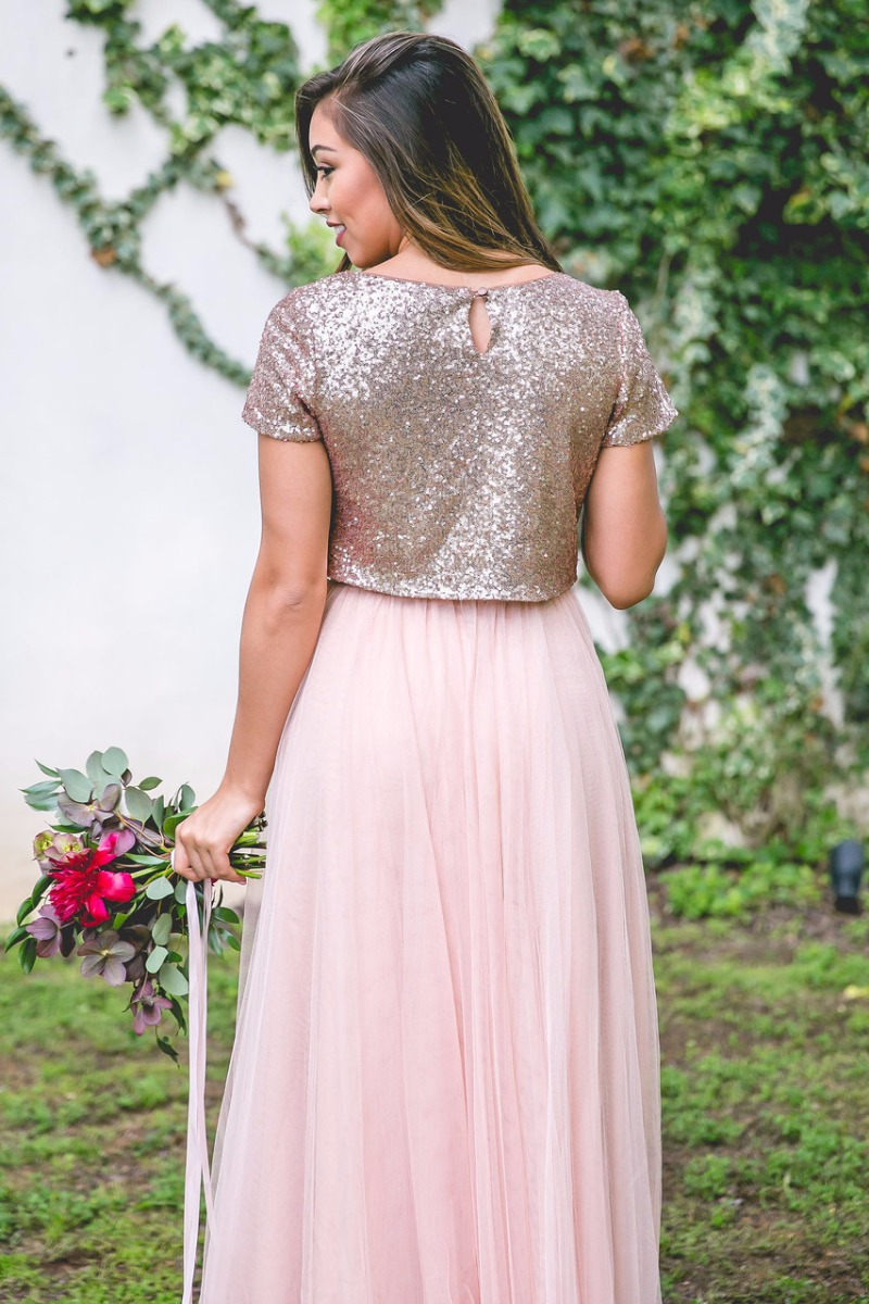 Every wedding needs a little sparkle, so why not let your bridesmaids shine? Our Bandie top will complete the trendy look you've