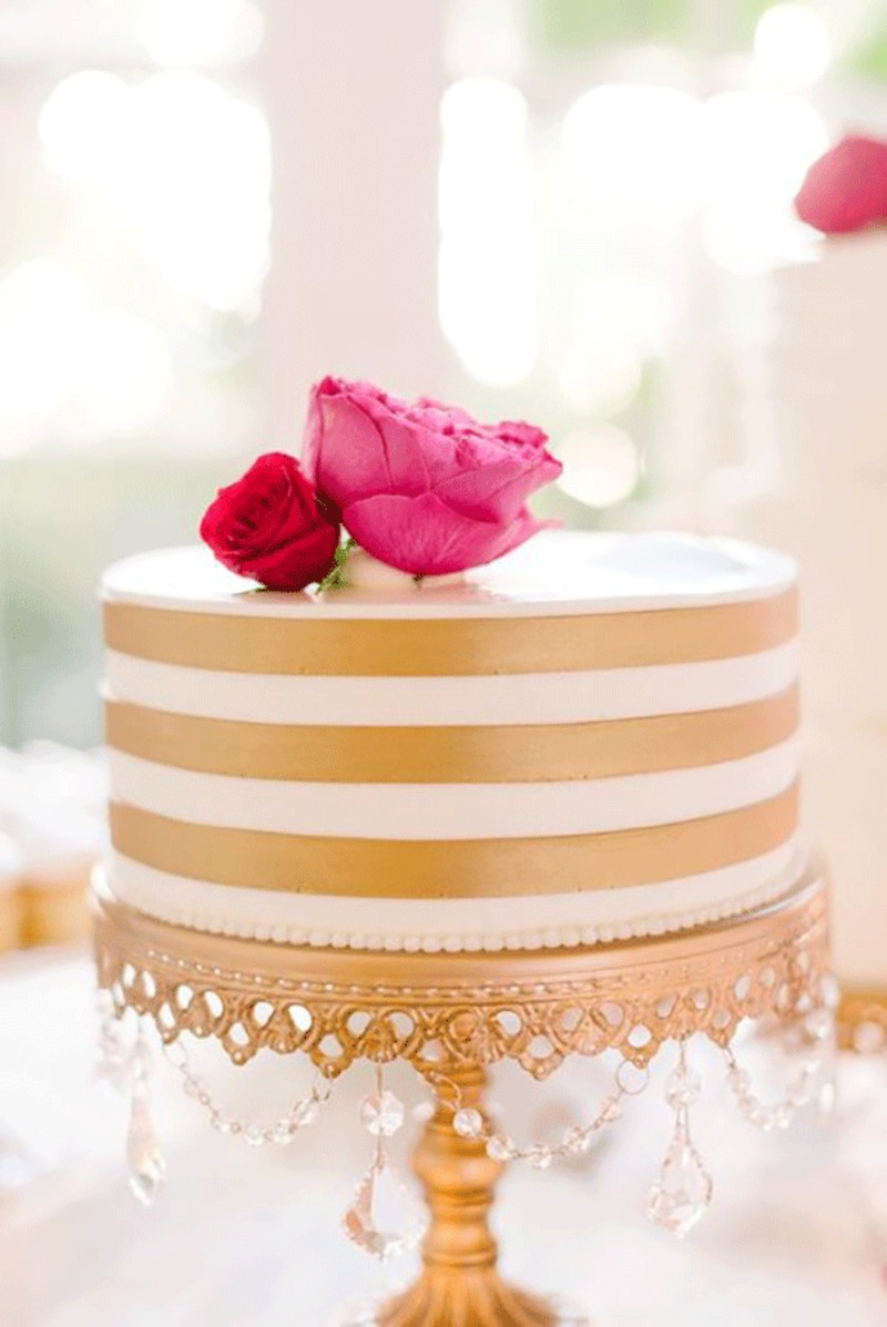 Gold Chandelier Wedding Cake Stand by Opulent Treasures