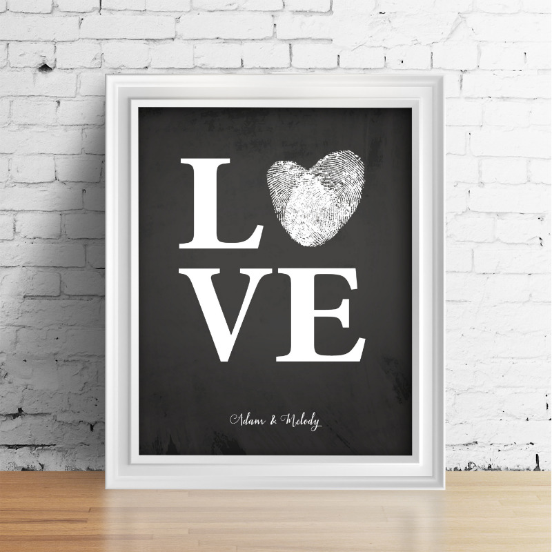 Made with your fingerprints. A stunning detail for your wedding and beautiful keepsake.