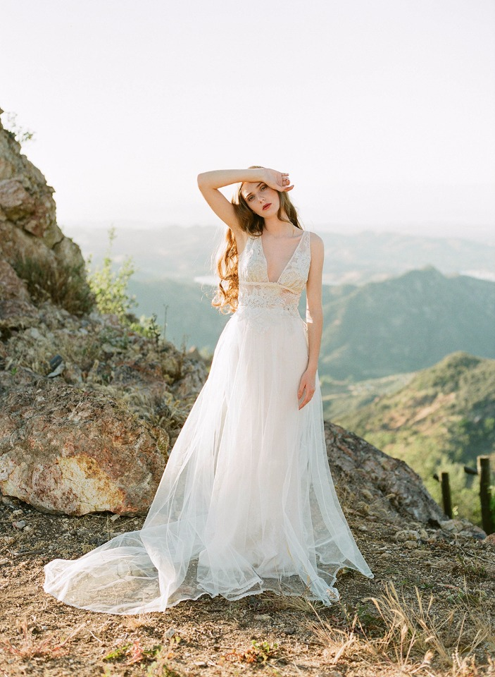 romantic wedding dress by Claire Pettibone