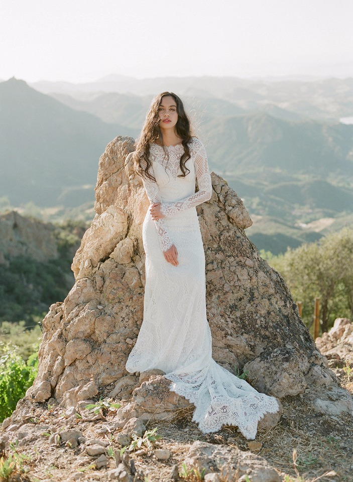 Shenandoah wedding gown by Claire Pettibone