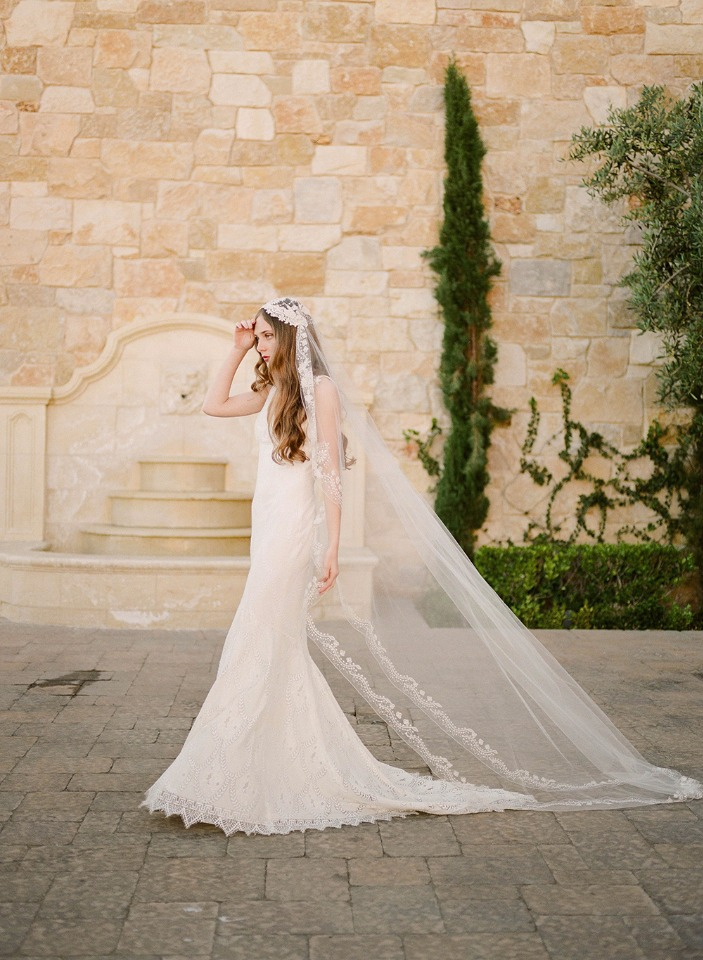 Lace wedding gown from Claire Pettibone