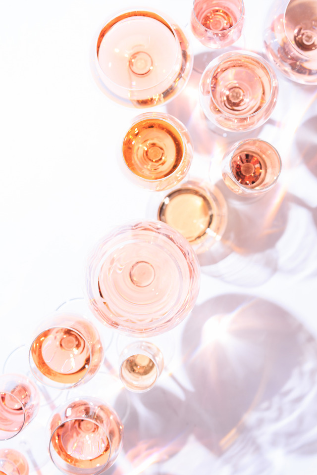 Rose all Day wine glasses
