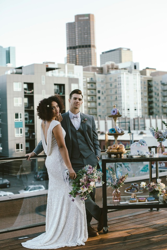 roof top wedding portrait idea
