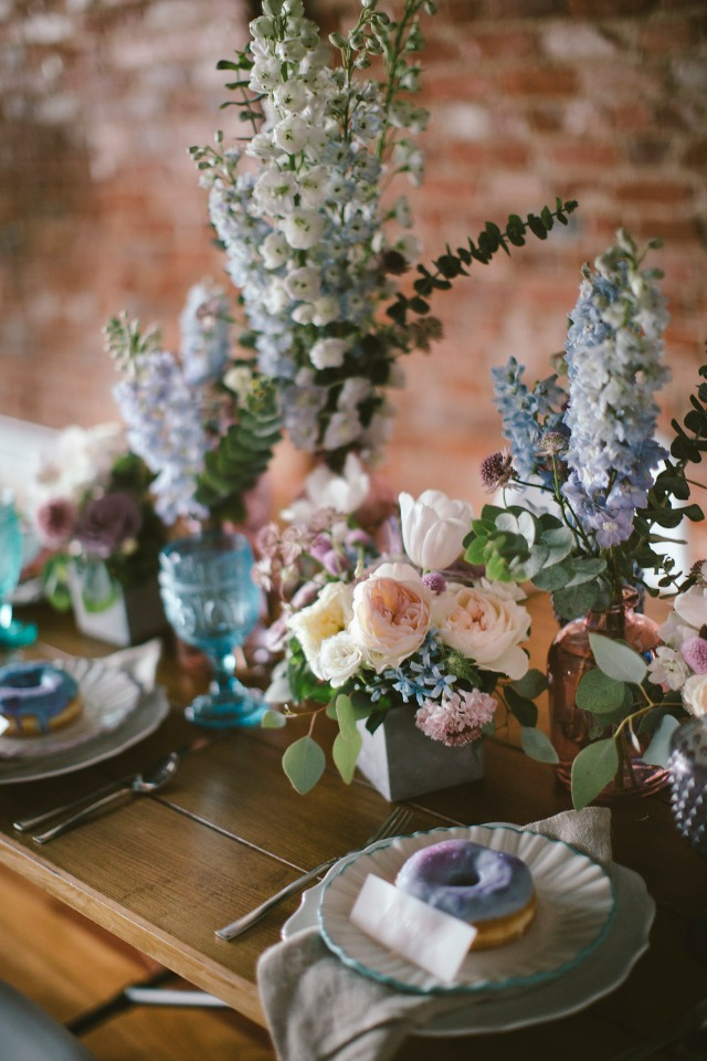wedding table decor for your industrial modern chic wedding