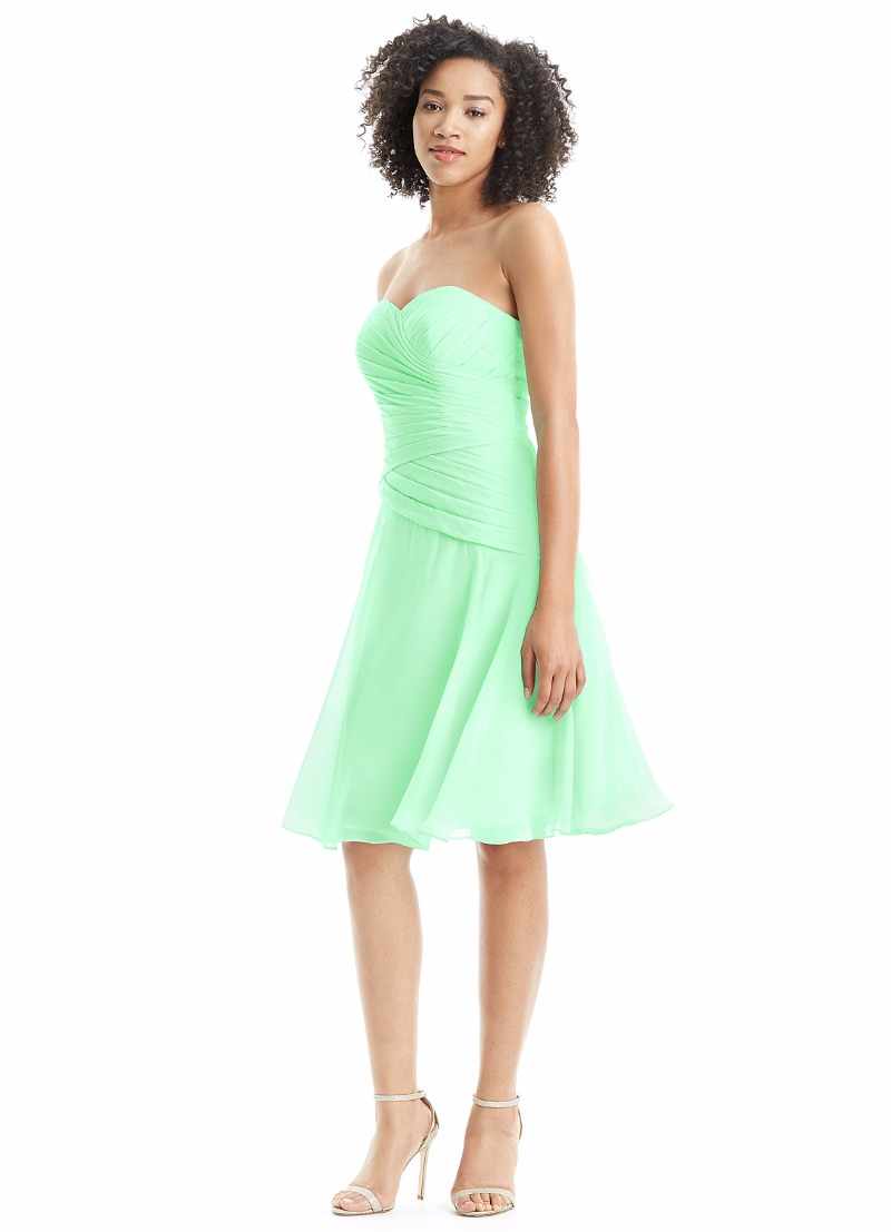 Light up the night with our Sofia dress in mint green!