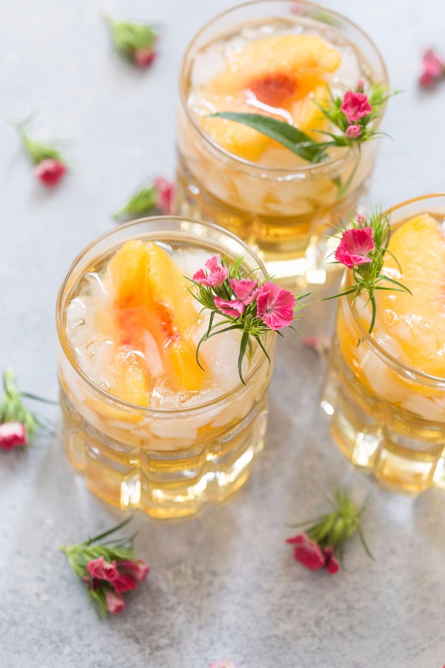 sweet Georgia peach smash