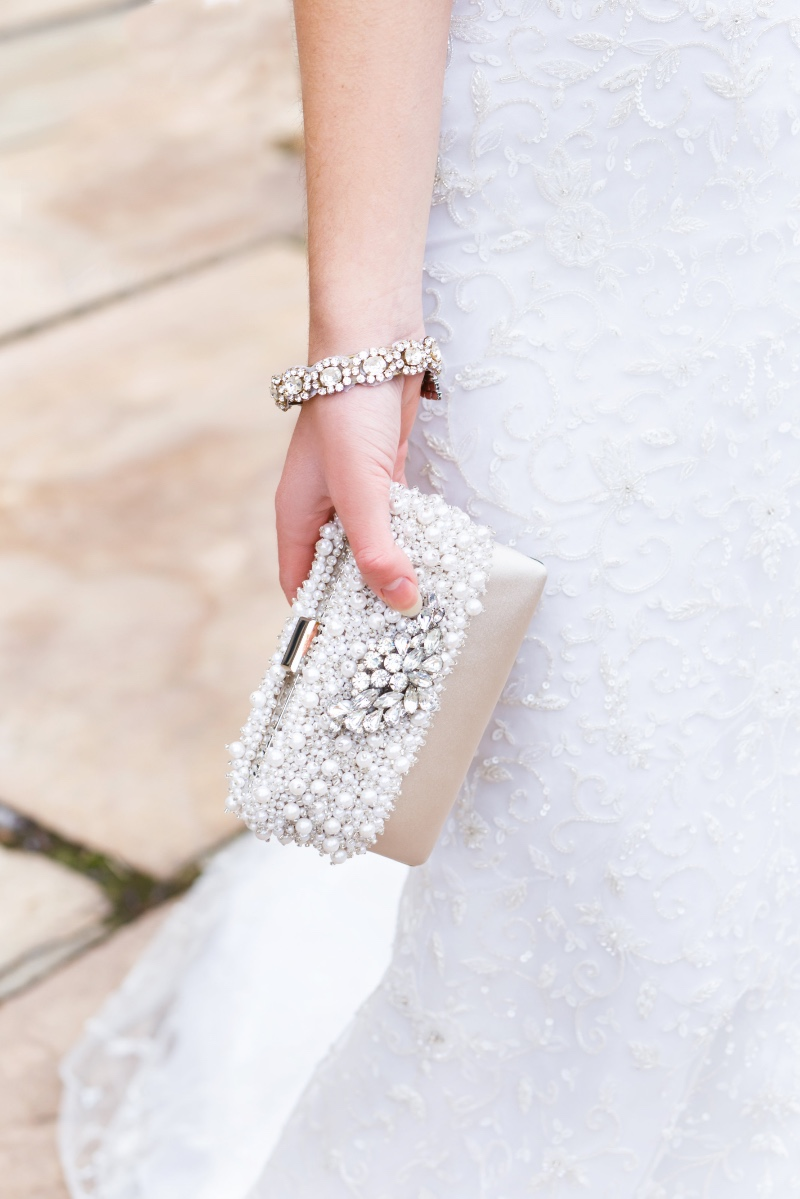 Couture bridal clutches designed by Cloe Noel Designs.