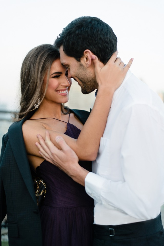 Beautiful rooftop engagement in Toronto